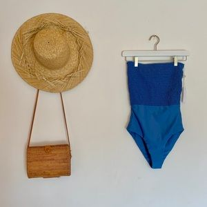 One piece strapless swim suit from Gillia Clothing